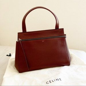 Celine Edge Wine Handbag